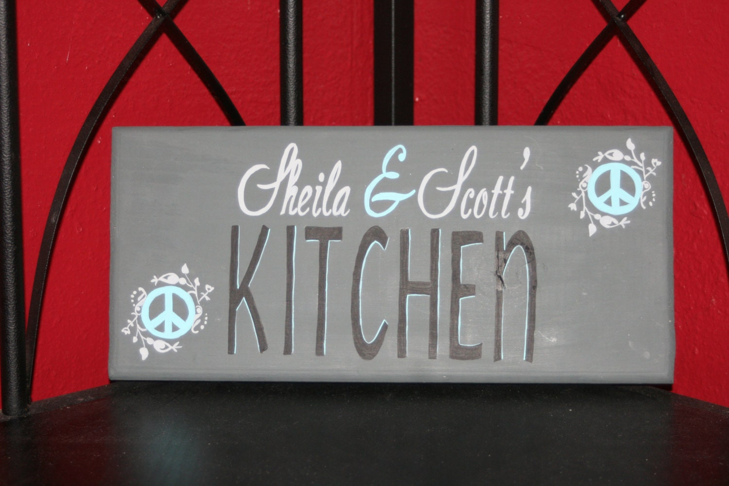 Custom Personalized Handpainted Kitchen Sign By Applehillcreations