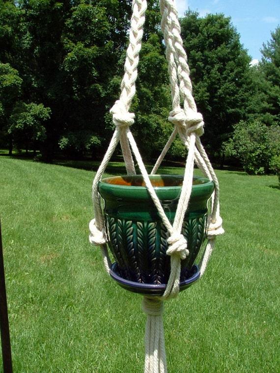 Indoor/ Outdoor Plant Hanger - Handmade Macrame Plant Hanger - Hanging ...