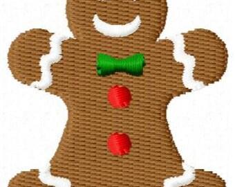 Gingerbread man Mini Embroidery Design
