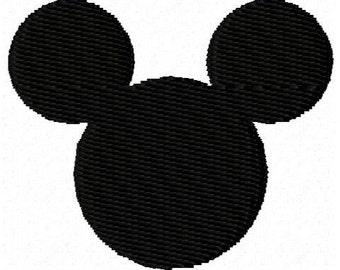 Mouse Head Ears Mini Embroidery Design
