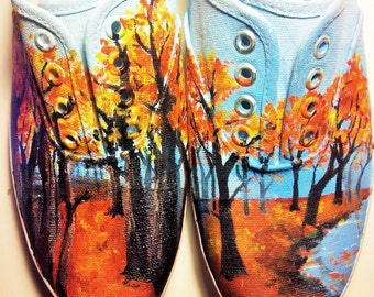 Custom Landscape Forest Shoes