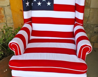 Stars and Stripes Chair - Heavy Cotton