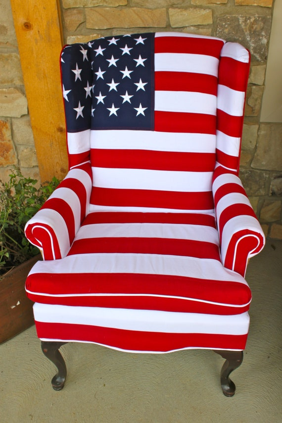 Stars and Stripes Chair Heavy Cotton