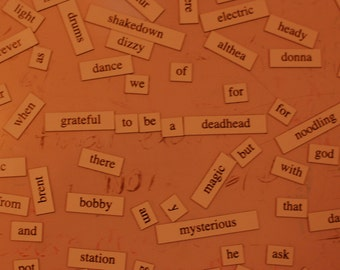 Grateful Dead Magnetic Poetry