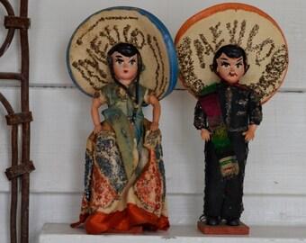 Vintage Tourist MEXICO Doll Couple