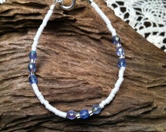 December Blue Topaz Dainty Baby Birthstone Bracelet