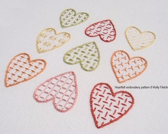 Heartfelt hand embroidery pattern