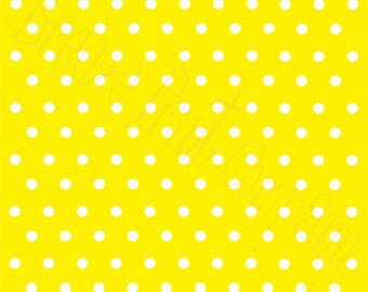 Yellow with white polka dots craft  vinyl sheet - HTV or Adhesive Vinyl -  polka dot pattern   HTV16