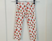 Heather Ross strawberry knit leggings