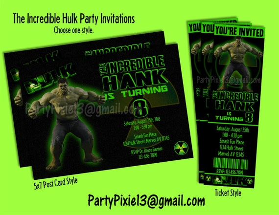 Incredible Hulk Avengers Party Decoration by ...