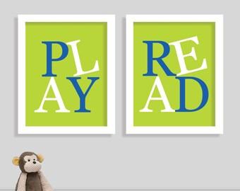 Playroom Print Set - Children Playroom Art - Nursery Sign - Nursery Print - Play Room Print