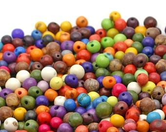 REAL Acai Beads in Carnival. QTY: 100 beads.