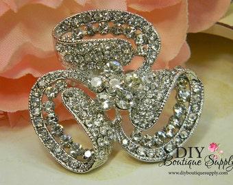 Big Crystal Brooch - Wedding Jewelry - Wedding Brooch Pin Accessories - Rhinestone Brooch Bouquet - Bridal Brooch Sash Pin 50mm 391220