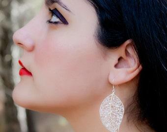 """Silver earrings """"sheet elven"""" / Earrings """"Elven leaf"""""""