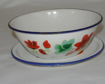 Bowl and plate, Bumper Harvest, 1950's