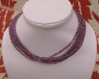 2 to 3.5 mm Purple CZ Micro faceted Rondelle Full 13 inch strand AAA + Quality