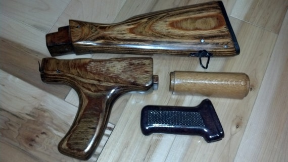 Ak 47 Romanian Rifle Wood Furniture Set 100 Refinished And