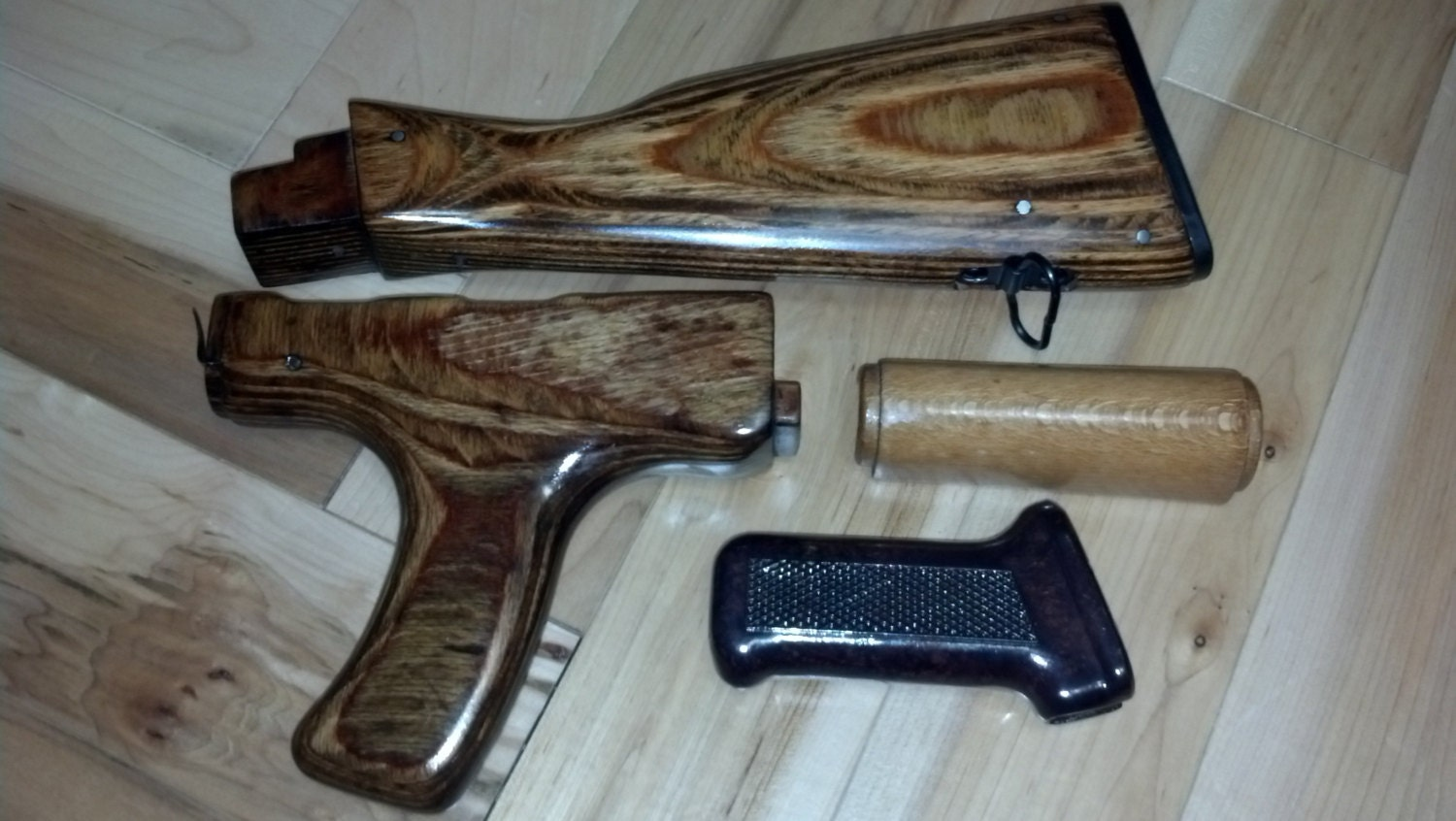 ak 47 rifle wood furniture set 100 refinished and