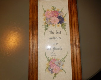 FRIENDS EMBROIDERED WALL Hanging