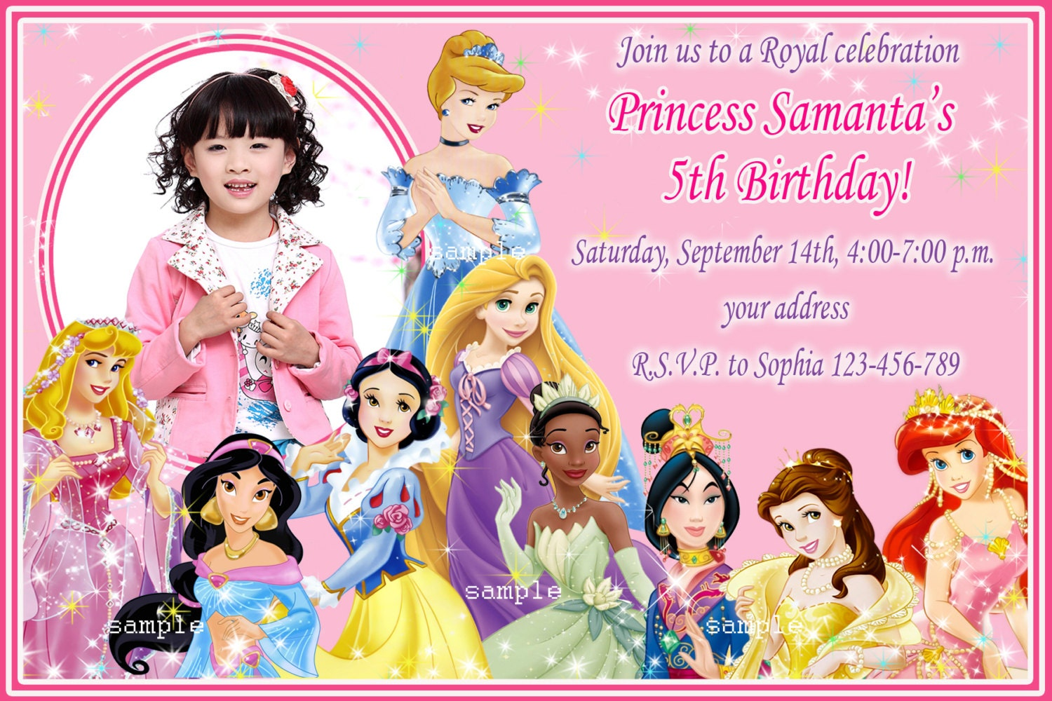 Disney Princess Party Invitations was very inspiring ideas you may choose for invitation ideas