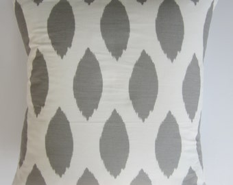 20x20 Grey and white  pillow cover 100% Cotton