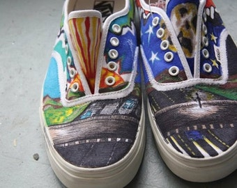 Items Similar To Sharpie Shoes Freehand Abstract Art Made