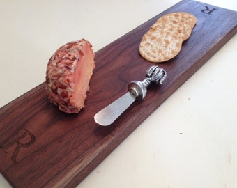Monogrammed Bread or Cheese Board Personalized Bread Board Laser Engraved Cheese Board