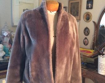 Vintage Borgana Faux Fur Coat-- By Alberchts Fur