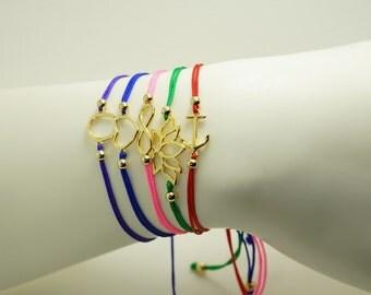 Colorful Adjustable String Anchor Bracelet