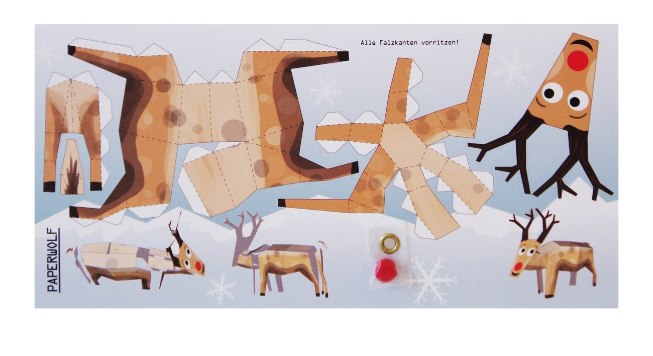 rudolph the red nosed reindeer template - postcard rudolph the reindeer christmas edition