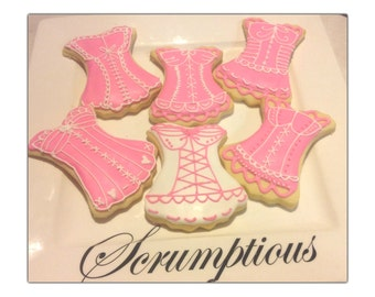 12 Corsets iced cookies.