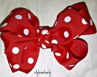 Red Polka Dot Bow
