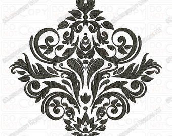 Fancy Beautiful Damask Pattern Full Stitch Embroidery Design in 3x3 4x4 and 5x7 Sizes