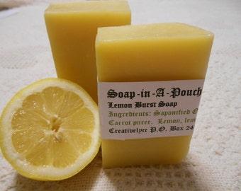 Lemon Burst Soap/Lemon Soap/Citrus Soap/Handmade Soap/Natural Lemon Soap/Organic Lemon Soap/Lemon Essential Oil Soap/Carrot Soap/