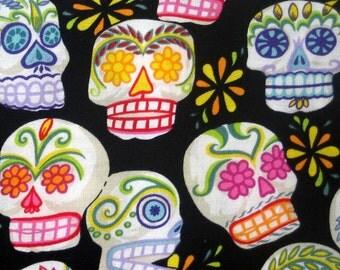 Fabric, Mini Calaveras, Sugar Skulls, Alexander Henry, By the Yard