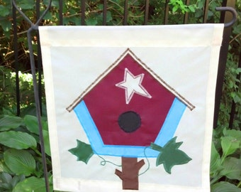 Birdhouse Garden Flag