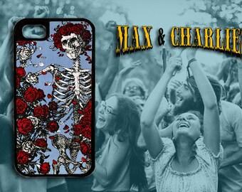Grateful Dead Bones and Roses  iPhone 6/5/5c/4 Case -Samsung Galaxy S3/S4/S5/S6 Case-Phone Cover