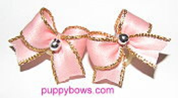Wee tiny toy pink classy dog bows 8 colors to choose