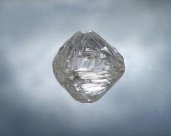 1.71 Carat Natural Rough Diamond Octahedron J-K Color and VS Clarity Gorgeous Rough Diamond