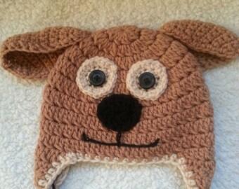 Crochet  Dog Earflap Hat