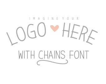 Instant Download - Digital Chains Font
