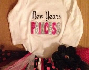 New Years Princess Scrap Fabric Tutu Outfit