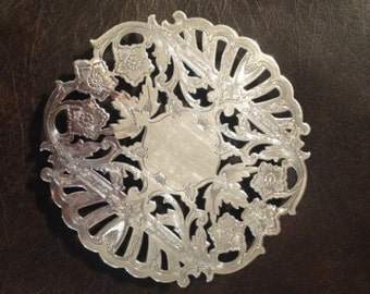 Wallace Silver Plate Footed Tea Trivet 7321