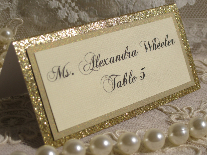 Name Card: Custom Order For Kelli By WeddingSparkles On Etsy