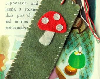 Felt Toadstool Bookmark