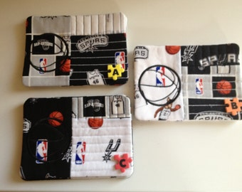 San Antonio Spurs Inspired Mug Rug - Set of 2