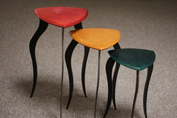 Mid Century Modern Nesting Tables Cocktail Tables Stackable