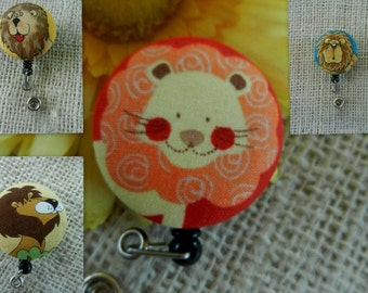 Lions Retractable ID, Name badge Holder Reels