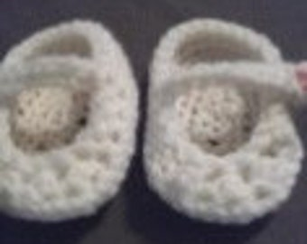baby shoes with strap & button