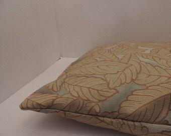 "1 leave leaf flora print pet bed cover Dog Duvet fits 1 standard sz pillow (19x25"") Gold light green"